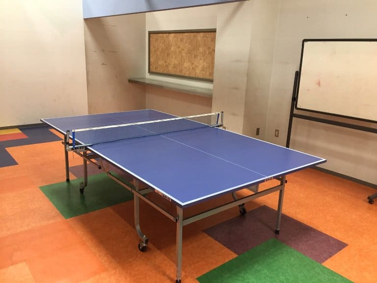 卓球場も完備